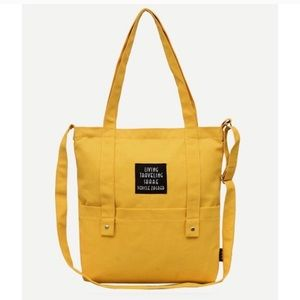 Handbags - 🌱 Mustard yellow canvas tote bag new